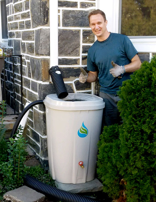 Rain Barrel Recipient